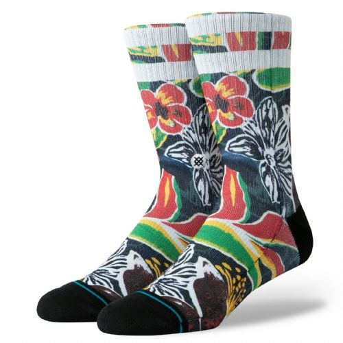 STANCE SINHARAJA SOCKS.NEW BLACK FLOWERED ARCH SUPPORT CUSHIONED SIZE UK 6 - 12